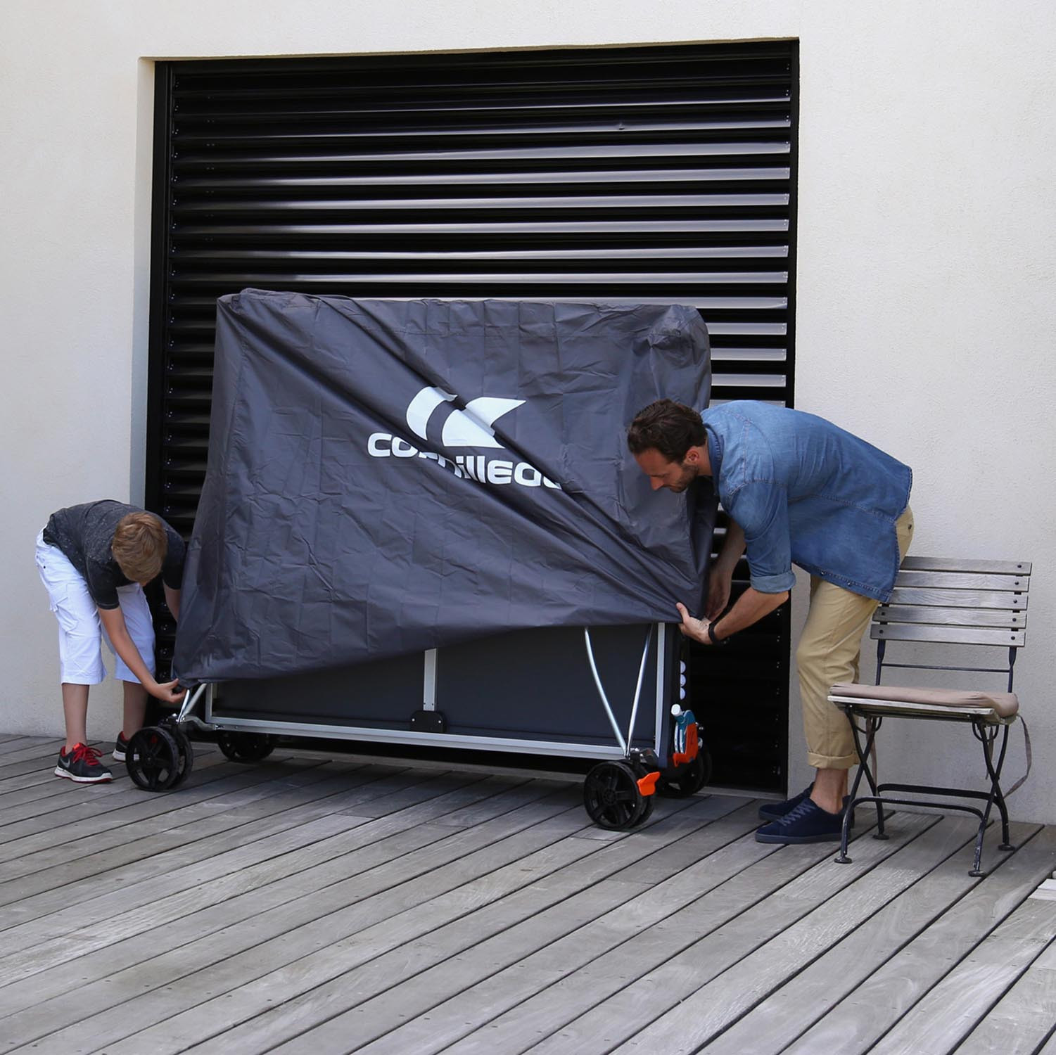 Table Tennis Table Cover Premium Grey